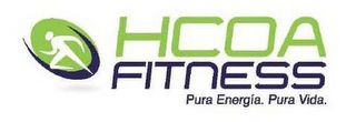 mark for HCOA FITNESS PURA ENERGIA. PURA VIDA., trademark #85084335
