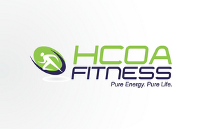 mark for HCOA FITNESS PURE ENERGY. PURE LIFE., trademark #85084344