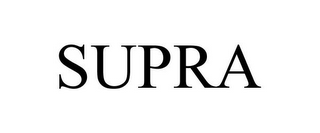 mark for SUPRA, trademark #85086395