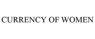 mark for CURRENCY OF WOMEN, trademark #85087755