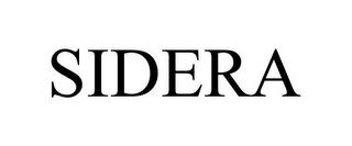 mark for SIDERA, trademark #85096021