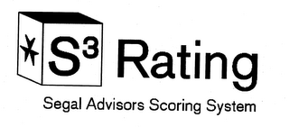 mark for S3 RATING SEGAL ADVISORS SCORING SYSTEM, trademark #85096618
