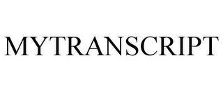 mark for MYTRANSCRIPT, trademark #85096685