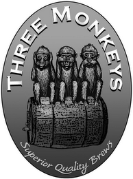 mark for THREE MONKEYS SUPERIOR QUALITY BREWS, trademark #85097679