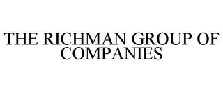 mark for THE RICHMAN GROUP OF COMPANIES, trademark #85101190