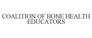 mark for COALITION OF BONE HEALTH EDUCATORS, trademark #85103630