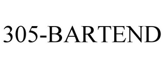 mark for 305-BARTEND, trademark #85115594