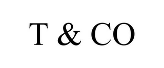mark for T & CO, trademark #85123025