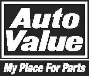 mark for AUTO VALUE MY PLACE FOR PARTS, trademark #85123748