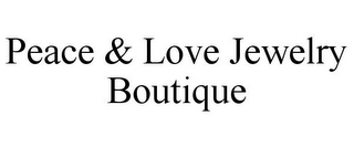 mark for PEACE & LOVE JEWELRY BOUTIQUE, trademark #85124858