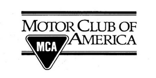 mark for MOTOR CLUB OF AMERICA MCA, trademark #85127079