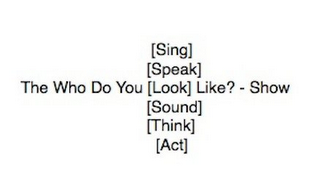 mark for THE WHO DO YOU [SING] [SPEAK] [LOOK] [SOUND] [THINK] [ACT] LIKE? - SHOW, trademark #85130690