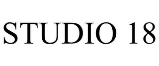mark for STUDIO 18, trademark #85130792