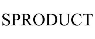 mark for SPRODUCT, trademark #85130824