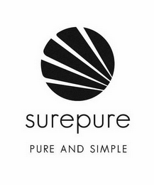 mark for SUREPURE PURE AND SIMPLE, trademark #85130974