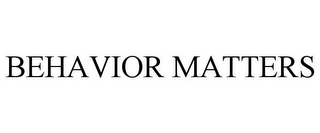 mark for BEHAVIOR MATTERS, trademark #85134219
