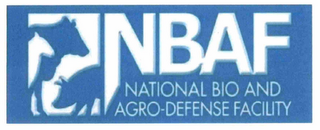 mark for NBAF NATIONAL BIO AND AGRO-DEFENSE FACILITY, trademark #85135758