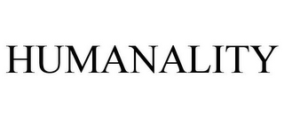 mark for HUMANALITY, trademark #85135975