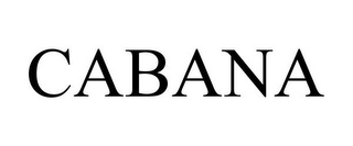 mark for CABANA, trademark #85136134