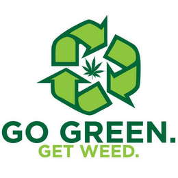 mark for GO GREEN. GET WEED., trademark #85136218
