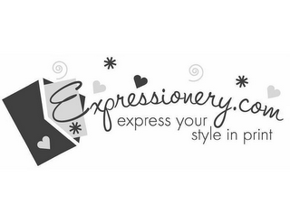 mark for EXPRESSIONERY.COM EXPRESS YOUR STYLE IN PRINT, trademark #85140200
