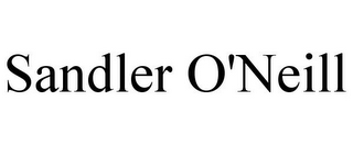 mark for SANDLER O'NEILL, trademark #85141343