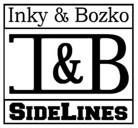 mark for INKY & BOZKO I & B SIDELINES, trademark #85141404