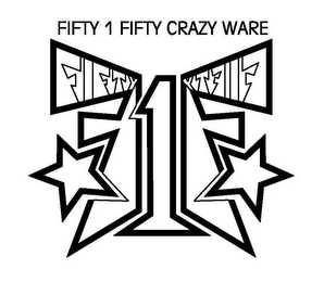 mark for FIFTY1FIFTY CRAZY WARE, trademark #85143095