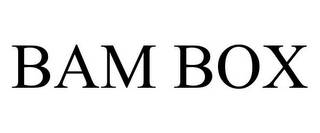 mark for BAM BOX, trademark #85146306