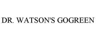 mark for DR. WATSON'S GOGREEN, trademark #85147822
