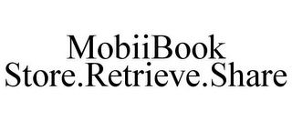 mark for MOBIIBOOK STORE.RETRIEVE.SHARE, trademark #85148917