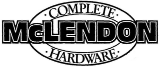 mark for MCLENDON · COMPLETE · · HARDWARE ·, trademark #85156779