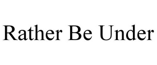 mark for RATHER BE UNDER, trademark #85157897