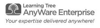 mark for LEARNING TREE ANYWARE ENTERPRISE YOUR EXPERTISE DELIVERED ANYWHERE!, trademark #85158809