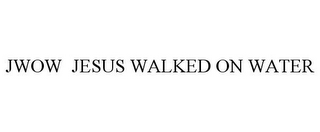 mark for JWOW JESUS WALKED ON WATER, trademark #85159853