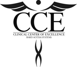 mark for CCE CLINICAL CENTER OF EXCELLENCE BARD ACCESS SYSTEMS, trademark #85168008