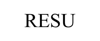 mark for RESU, trademark #85168238
