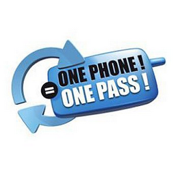 mark for ONE PHONE ! = ONE PASS !, trademark #85168293