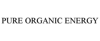 mark for PURE ORGANIC ENERGY, trademark #85169035
