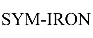 mark for SYM-IRON, trademark #85169792