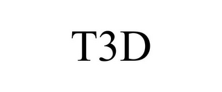 mark for T3D, trademark #85175980