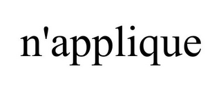 mark for N'APPLIQUE, trademark #85178568