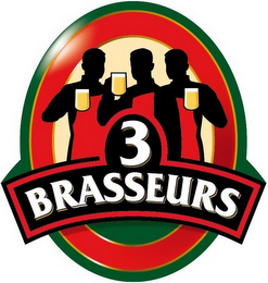 mark for 3 BRASSEURS, trademark #85178941