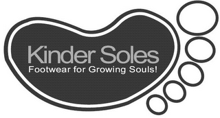 mark for KINDER SOLES FOOTWEAR FOR GROWING SOULS!, trademark #85180010
