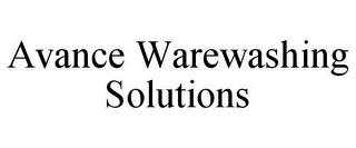 mark for AVANCE WAREWASHING SOLUTIONS, trademark #85180142