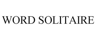 mark for WORD SOLITAIRE, trademark #85180601