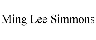 mark for MING LEE SIMMONS, trademark #85181151