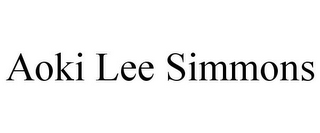 mark for AOKI LEE SIMMONS, trademark #85181157