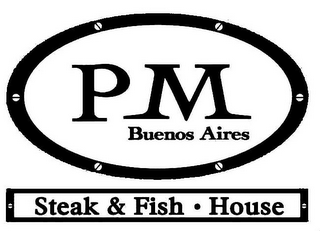mark for PM BUENOS AIRES STEAK & FISH · HOUSE, trademark #85183223