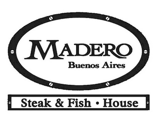 mark for MADERO BUENOS AIRES STEAK & FISH · HOUSE, trademark #85183232